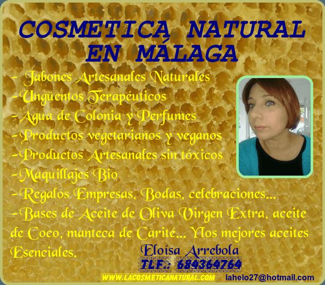 COSMÉTICA NATURAL MÁLAGA JABONES NATURALES MARBELLA CREMAS NATURALES ESTEPONA COSMÉTICA ECOLÓGICA COSTA DEL SOL COSMÉTICA NATURAL MÁLAGA