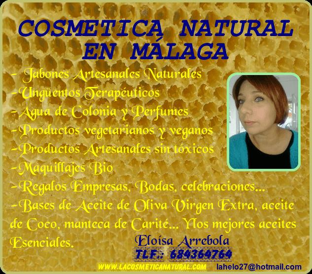 COSMÉTICA NATURAL MÁLAGA JABONES NATURALES MARBELLA NATURAL COSMETICS ESTEPONA COSMÉTICA ECOLÓGICA COSTA DEL SOL NATURAL SOAPS MÁLAGA ECOLOGICAL COSMETICS